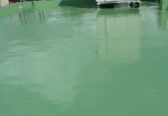 7. ウレタン塗膜防水(通気緩衝工法)完了