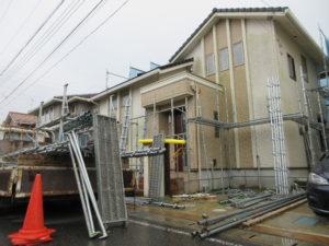袖ヶ浦市 S様邸 塗装工事着工しました。