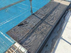 千葉市 美浜区 外壁塗装工事 屋上防水工事 庇木下地腐食